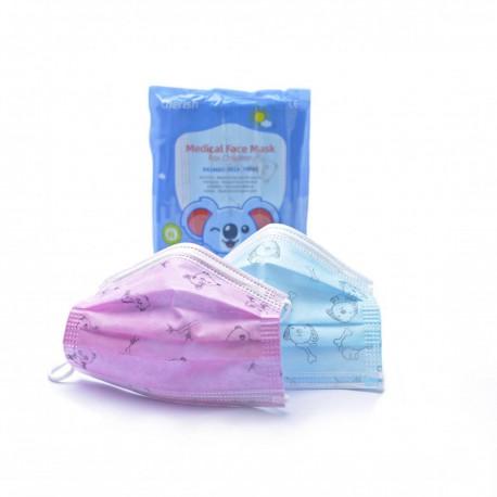 Detská tvárová maska - rúško modré 10 ks