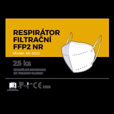 Respirátor filtračné FFP2 biely 25ks